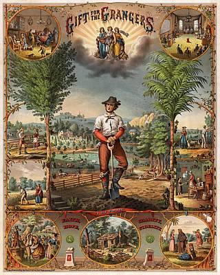 Gift For The Grangers Promotional Poster 1873 Art Print