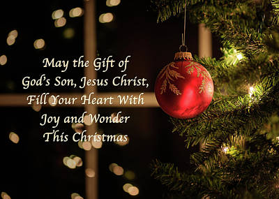 Photograph - Gift Of God's Son Christmas Card by Joni Eskridge
