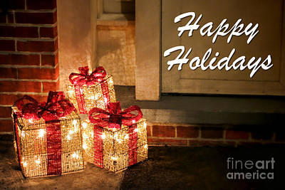 Photograph - Gift Of Lights - Happy Holidays   by Olivier Le Queinec