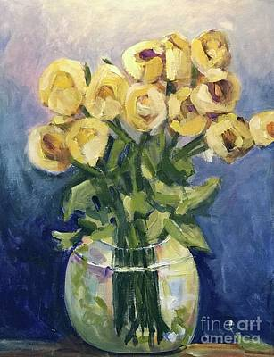 Yellow Rose Of Texas Painting - Gifted Love by Sherry Harradence