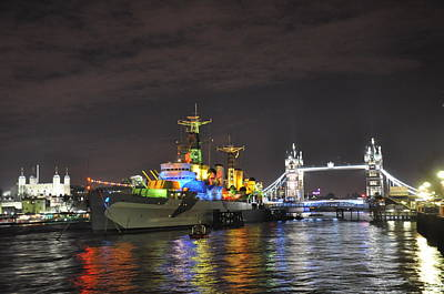 Photograph - Gifting Hms Belfast by Gabriella Szekely