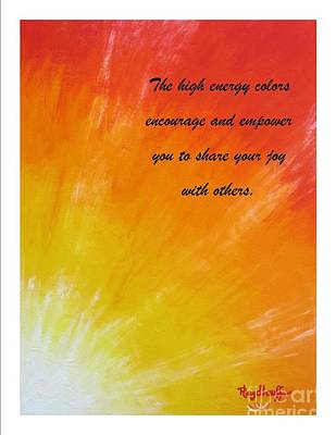 Rainbow Painting - Gifting - Spiritual Art Poster With A Message by Pat Heydlauff