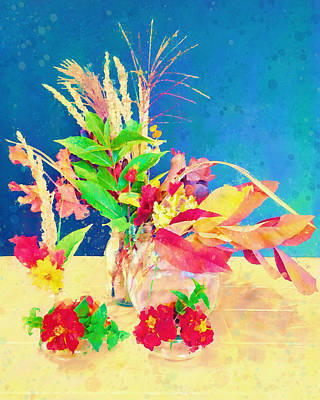 Digital Art - Gifts From The Yard Watercolor by Christina Lihani