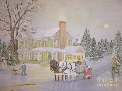 Painting - Gifts On Christmas Eve by Patti Lennox