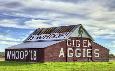Photograph - Gig Em Aggies by JC Findley