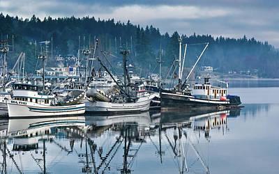At Sea Photograph - Gig Harbor Fishing Boats by Joseph Smith