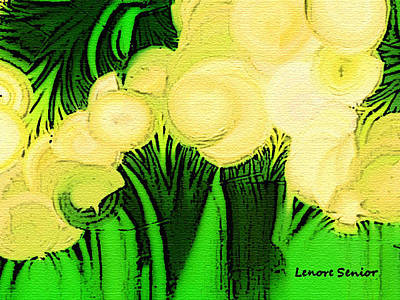 Emotion Mixed Media - Gigantic Forest Flowers by Lenore Senior