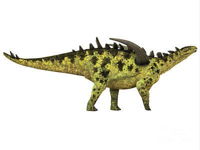 Prehistoric Digital Art - Gigantspinosaurus Side Profile by Corey Ford