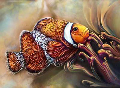 Clownfish Painting - Giger Fish by Julianne Black