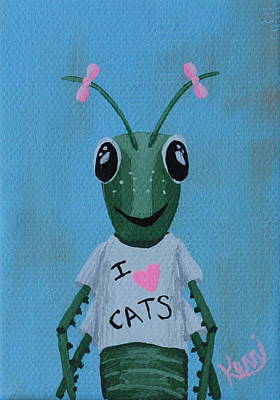 Painting - Gigi The Grasshopper's School Picture by Kerri Ertman