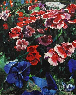 Acryllic Painting - Gigi's Flowers by Rich Donadio