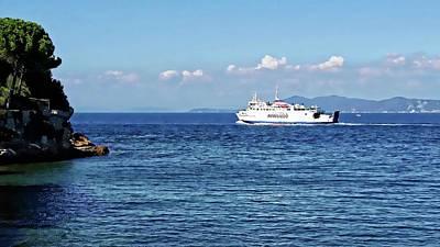 Digital Art - Giglio Island Ferry - Porto Santo Stefano, Italy by Joseph Hendrix