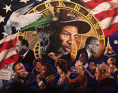 Painting - Gil Scott Heron Tribute by Pascal Martos