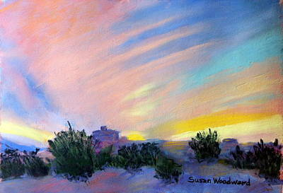 Pastel - Gila Bend Sunset by Susan Woodward
