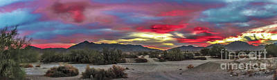 Photograph - Gila Mountains And Sonoran Desert Sunrise by Robert Bales