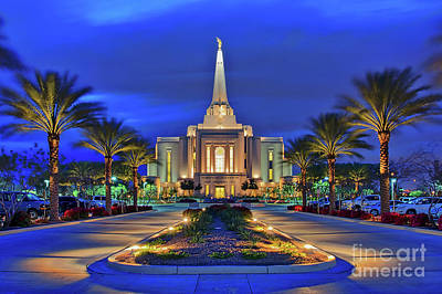 Photograph - Gilbert Arizona Temple Of The Church Of Jesus Christ Of Latter-day Saints by Sam Antonio Photography