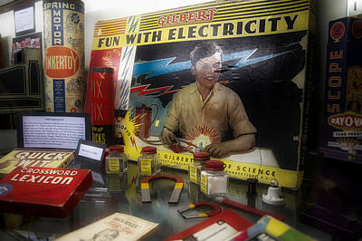 Game Piece Mixed Media - Gilbert Electricity Science Kit by Thomas Woolworth