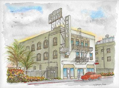 Painting - Gilbert Hotel In Hollywood, California by Carlos G Groppa