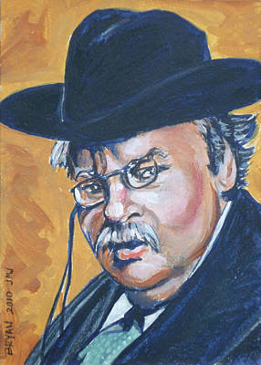 Painting - Gilbert Keith G.k. Chesterton by Bryan Bustard