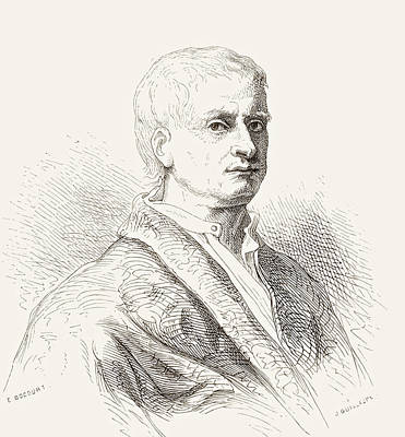 Newton Drawing - Gilbert Stuart Newton, 1795 by Vintage Design Pics