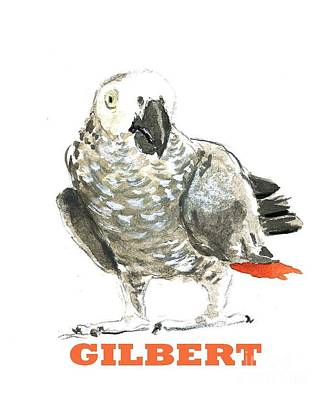 Smart Mixed Media - Gilbert West African Parrot by Icon For Mungindi Trading Cards