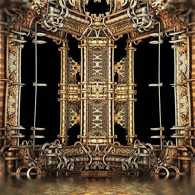 Digital Art - Gilded Bathhouse by Hal Tenny