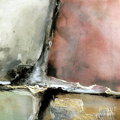 Wall Art - Painting - Gilded Crevice 7 by Chris Paschke