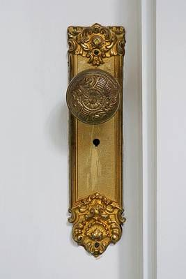Gilded Doorknob Art Print by Patricia Strand