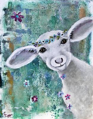 Wall Art - Painting - Gilded Lamb by Carol Iyer