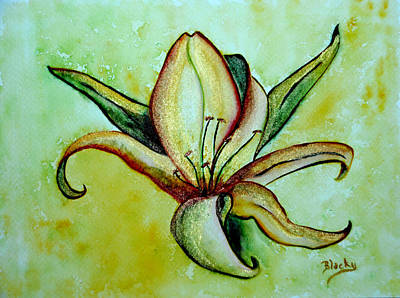 Painting - Gilded Lily by Donna Blackhall