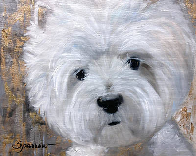 Dog Painting - Gilded by Mary Sparrow