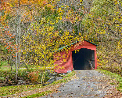 Photograph - Giles County Covered Bridge by Kerri Farley