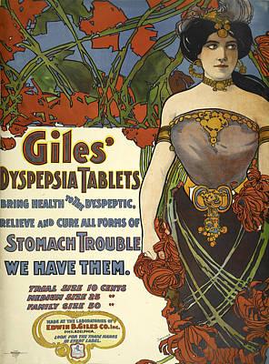 Digital Art - Giles Dyspepsia Tablets by Phat Artz