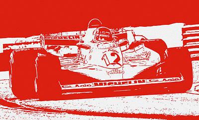 Painting - Gilles Villeneuve - Ferrari Legend by Andrea Mazzocchetti