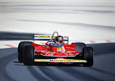 Painting - Gilles Villeneuve French Gp 1979 by Steve Jones