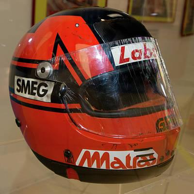 Photograph - Gilles Villeneuve Helmet Museo Ferrari by Paul Fearn