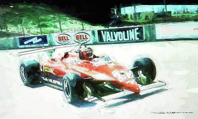 Digital Art - Gilles Villeneuve by Roger Lighterness