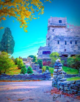 Digital Art - Gillette Castle East Haddam Connecticut by Rusty R Smith