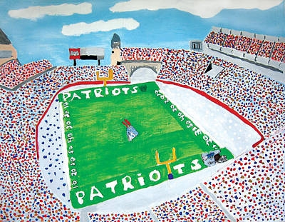 Gillette Stadium Painting - Gillette Stadium by Jeff Caturano