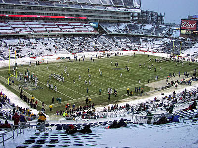 Photograph - Gillette Stadium Snow Bowl by Mike Martin