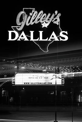 Photograph - Gilley's Dallas V3bw by Rospotte Photography