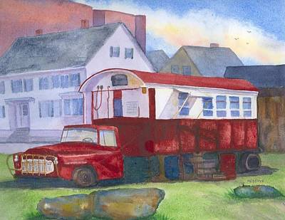 Painting - Gilley's Lunch Wagon Portsmouth Nh by Roseann Meserve