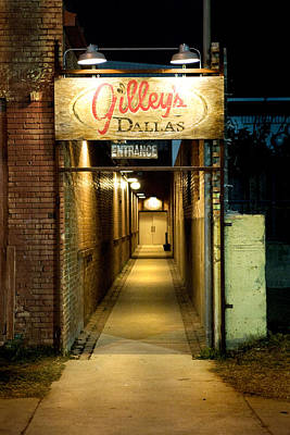 Gilleys Of Dallas At Night Art Print by Michelle Shockley