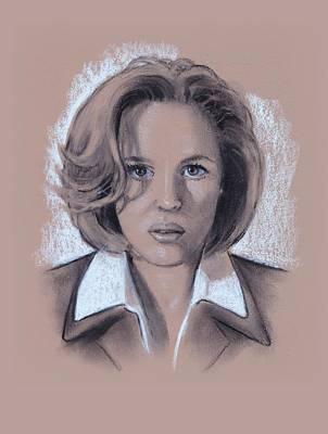 Gillian Anderson Drawing - Gillian Anderson X Files by Joyce Geleynse