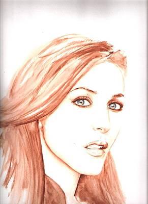 Gillian Anderson Painting - Gillian by Karl Opanowicz