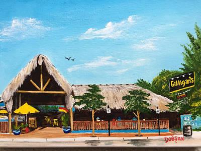 Painting - Gilligan's Island Grill by Lloyd Dobson