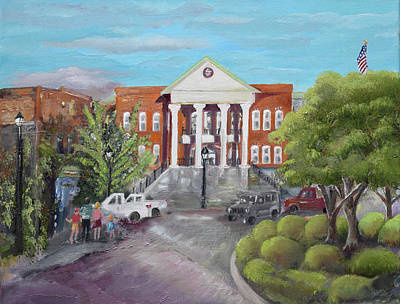 Painting - Gilmer County Courthouse - Ellijay, Ga by Jan Dappen