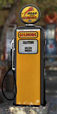 Gas Pump Wall Art - Photograph - Gilmore Gasoline - Tokheim Pump by Mike McGlothlen