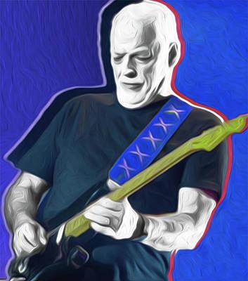 Mixed Media - Gilmour , Nixo, #828 by Nicholas Nixo