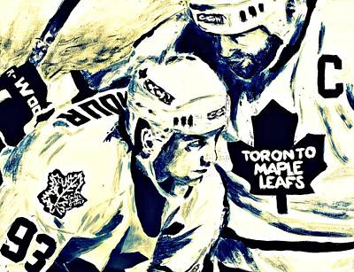 Toronto Maple Leafs Painting - Gilmour And Clark by Carly Jaye Smith